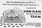 1996 Poster for Van Slam bouts 2 to 5. Courtesy of Justin McGrail.
