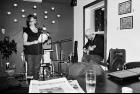 Hilary Peach and Ian Ferrier at Café Souffle.