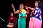 """Sheri-D Wilson, Jamilah Malika, Kim """"Dr. Goddess"""" Ellis at The Banff Centre, 2010"""