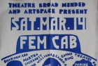 Poster, FemCab 1987. Toronto. Courtesy of Elise Moser & The Hysterical Women
