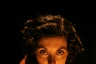 Missie Peters as the Femme Fatale in Paper Street Theatre Co.'s improvised Film Noir