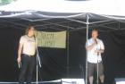 Warren Dean Fulton and Sean Cranbury onstage at Summer Dreams Literary Festival 2011.